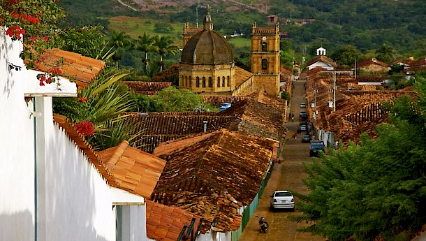 Cathedral and Roofs of Colonial Houses, Barichara. Photo: Uli Danner | Dreamstime.com