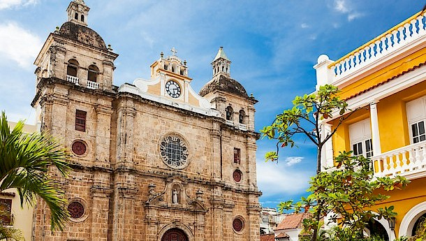 Church of St Peter Claver in Cartagena. Photo: Sorin Colac | Dreamstime.com