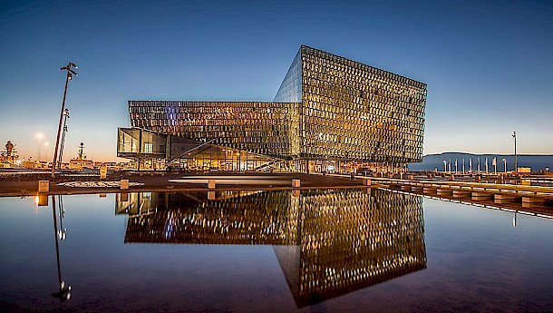 "Reykjavik Concert Hall and Conference Centre. Harpa was designated ""one of the best concert halls of the new millennium"" and best MICE centre in Northern Europe."