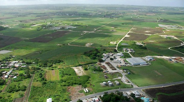 Aerial View of Woodbourne Oilfield. Photo: BNOC