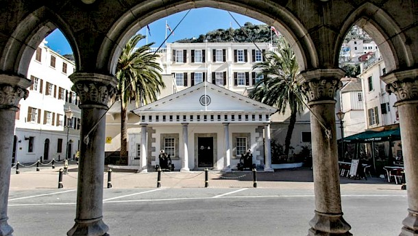 Convent Place is not only home to the prime minister's office; it is also the location of the residence of the governor of Gibraltar, from which this photo was taken. Photo: DM Parody (www.dotcom.gi/photos)