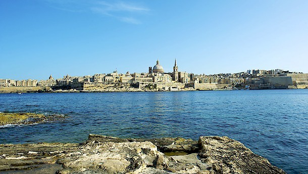 A panoramic view of Malta from the sea. Photo: Malta Tourism Authority